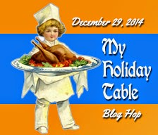 Holiday table badge, small